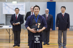 Winning the 3rd place in the Men's Kyu individual and fighting spirit award, Benedict Jin made us so proud!