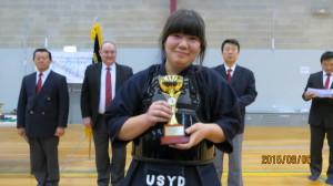 Women's Kyu Individual Runner-up Katrina Amos