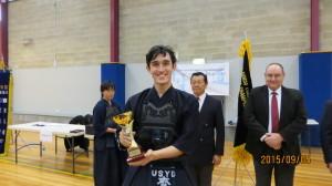 Men's Kyu Individual Champion Jordan Saito-Patch