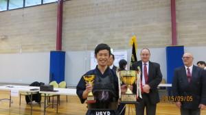 Men's Dan Individual Champion Yoshito Takeuchi