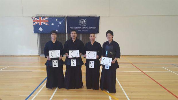 Congratulations to 5th Dan achieviers! (Left) Fujisawa Sensei